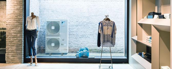 warmte lucht airco cassette unit