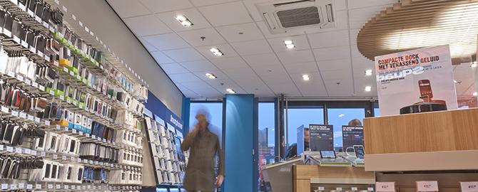 Ventilatietechniek in plafond